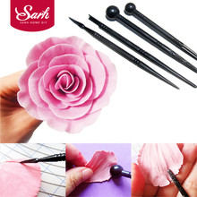 T0116 4pcs/set Cake Carved Pens Flower Modelling Tool Fondant  Biscuits Cake Molds for the Kitchen Baking Cake Decorating Tools