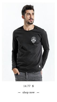 SIMWOOD 2018 Automne À Manches Longues T-shirt Hommes 100% Pur Coton Slim Fit Drôle de Mode De Poche Tops Haute Qualité TC017004 10