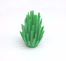 10pcs/Lot Green Grass Garden Plants DIY Block Brick Parts Compatible with Legoe Assemble Particles