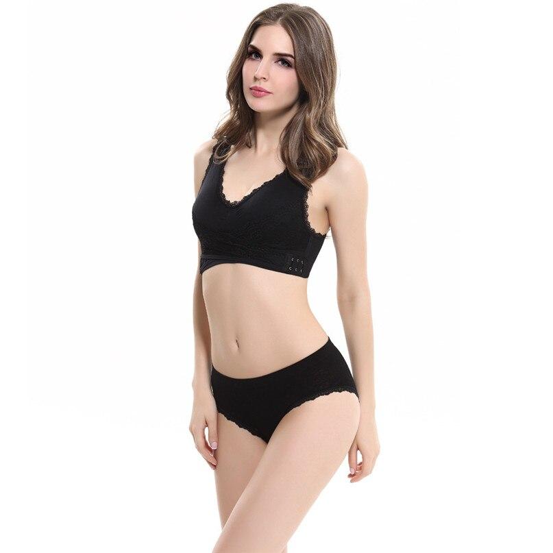 Women Sports Bra Sports Underwear Fitness Yoga Running Pad Cropped Top Sports Wear Tank Tops Anti-Sweat Lace Bra #3j#F (41)