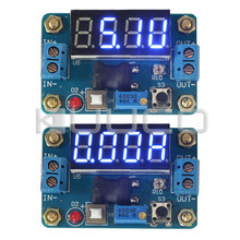 Power Adapter DC 4.5~24V to 1~20V 2A 20W Buck Converter Adjustable DC 5V/12V 2A Voltage Regulator + Blue LED Voltmeter Ammeter