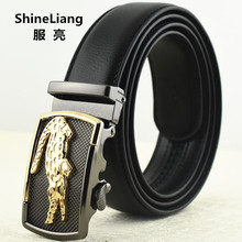 Buy Men Belt Metal Automatic buckle Leatherette jeans Width 3.5CM Length 110/120 / 130CM Designer high Fashion Brand for $9.50 in AliExpress store