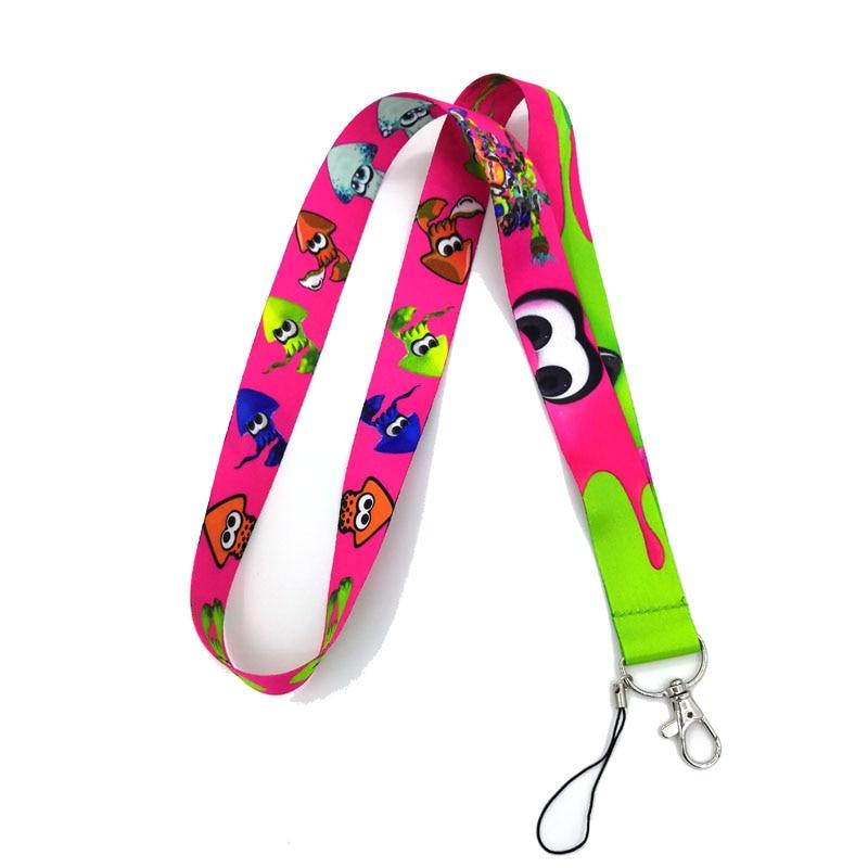 Pink Stars All Over Lanyard Key Chain Phone Strap ID Badge Holder