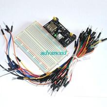 400 Tie-point Solderless PCB Breadboard + 65pcs Jumper Wire Male to Male +Breadboard Power Supply Module(China)