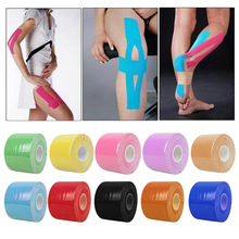Swimming Kinesiology Tape Roll Cotton Elastic Adhesive Muscle Sports Tape Bandage Physio Strain Injury Support B2C Shop(China)