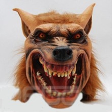 Cosplay Halloween Wolf Head Mask Latex Animal Halloween costumes supplies Halloween T31(China)