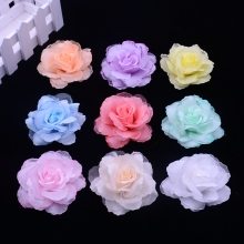 50pcs/lot 6.5cm silk rose corsage wedding decoration DIY artificial rose garland decorated artificial flowers real touch roses(China)