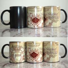 Light Magic Light Magic mug mischief mangaged Marauders Map color chaning mugs cup Tea coffee mug cup for friend gift
