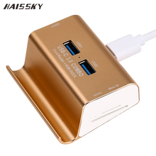 HAISSKY USB 3.0 HUB Dock Charger OTG Micro USB Charging Data Sync Card Reader Multi Function High Speed For Macbook Air Computer(China)