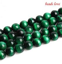 "Natural Stone Beads A++ Green Tiger Eye Round Beads For Jewelry Making 15"" Pick Size 6mm 8mm 10mm 12mm 14mm-F00123"