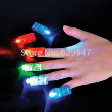 (60 PCS/LOT)Free shipping Mixed Colors LED Finger Flash Lights for Birthday Party Favors/LED finger light for party(China)