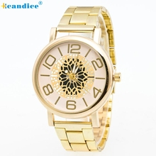 Hot Boys Unique Design Watches Stainless Steel Pointer Quartz Wrist Watch Creative Mar15