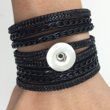 2017 NewFashion Korean velvet snap button jewelry bracelet GJ5931 (fit 18mm 20mm snaps) BOBOSGIRL(China)
