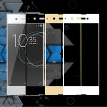"Buy Full Glass Sony Xperia XA1 G3112 G3116 G3121 Screen Protective Toughened Film Sony XA1 Tempered Glass Protective Film 5"" for $2.37 in AliExpress store"