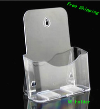 10pcs Clear A5 Single Plastic Brochure Pamphlet Literature Display Holder Racks Stand to Insert Leaflet On Desktop(China)