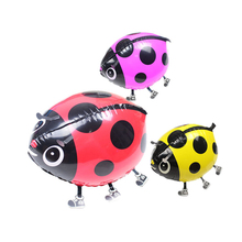 Beatles Ladybug Foil Balloon in Littlest Pet Shop Walking Animals Ladybird Foil Balloons Children LoveToys Party Decoration(China)