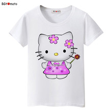 BGtomato lovely Hello Kitty princess T-shirts women fashion cartoon cute tops Good quality Brand clothes soft casual shirts