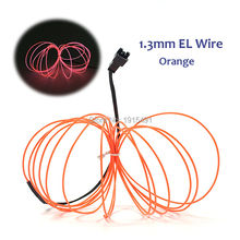 High-grade 1.3mm 20Meters Car Moulding decor LED neon Holiday light EL wire For Christmas decoration+one DC-12V Drives
