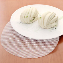 Best Silicone Steamer Non-Stick Pad Round Dumplings Mat Steamed Buns Baking Pastry Dim Sum Mesh home Kitchen Cooking Tools(China)