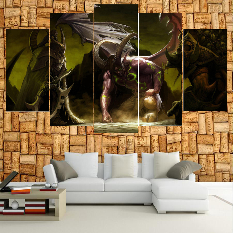 Classic Game Warcraft Figure Poster Wall Modular Picture Canvas Paintings For Living Room Bedroom Kids Room Wallpaper(China)