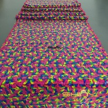 "1 DAY Ship Rainbow Sequin Table Runner 14"" x 132""  Wholesale Table Cloths Sequin Linens  Silver Sequin"
