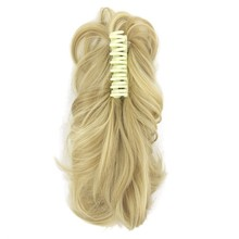 Soloowigs Natural Wave Pony Tails High Temperature Fiber Hair Extension Long Blonde/Wine Red Claw Horse Tails 14inch for Women(China)