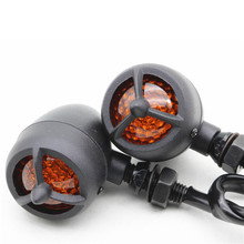 RPMMOTOR Black Motorcycle shape Turn Signal Lights Flashers Indicator Light For Honda Harley Classic Barrier Orange LED Light(China)