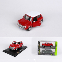 1:32 Scale Car model 1969 mini cooper toy cars Models Diecast Car  Toys with Openable Doors Green and Red