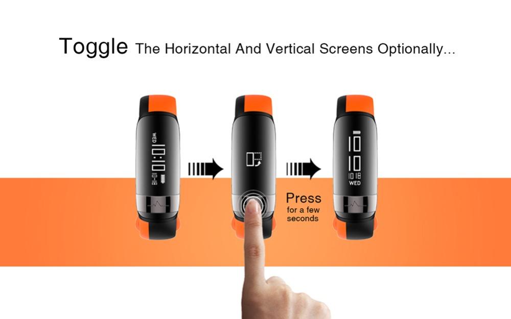 HUINIU Sport Smart Band Waterproof Bluetooth Bracelet Activity Tracker Heart Rate Monitor Smartband Message Reminder Wristbands 10