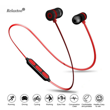 Buy Metal Magnetic Wireless Earphone Bluetooth Headphone Earpiece Mic Stereo Bloototh Headset Sports Earbuds Iphone7 Xiomi8 for $2.75 in AliExpress store