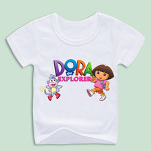 Children's Cartoon DORA THE EXPLORER Funny T-shirts Kis's Comic Girl and Monkey Tee Shirts Baby Clothing,Ready Stock(China)