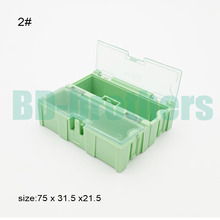 Original 2# Green Component storage box Square IC Components Boxes SMT SMD Wen tai Boxes Combination Plastic Case 100pcs/lot