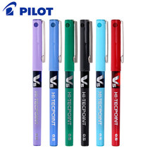 Japan Pilot Bx-v5 0.5mm Multicolor 12pcs Box Plastic Gel Pen Rollerball Ball-point Stationery Office School Writing Suppliers