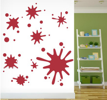 Paint Splatter Wall Decals Home Decor Living Room Creative Decoration Removable Vinyl Wall Stickers Waterproof Art Decal ZA670(China)