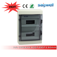 Hot sale ip65 waterproof power distribution box 24 ways HA series 420*295*130mm Saip