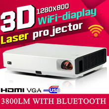 Brand CRE New 3000Lm Built-in Android 4.4 ,4.0 Bluetooth Smart Wireless Wifi RJ45 Home Theatre HD LED Video 1080P TV 3D Cinema P