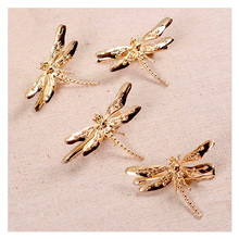 4 PCS Gold Dragonfly Wedding hair accessories women headpiece Handmade Bridal Hair Clip prom hair jewelry