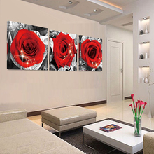 Poster On TheWall Vintage Painting Canvas PrintingNo Frame Romantic Rose Flowers Wall Pictures For Living Room Hot Cuadros Decor