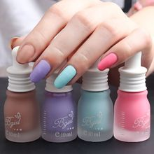 12 Colors Pro Cute Bottle Nail Art Makeup Cosmetics 12 Colors Pigments Stamping Print Pink White Matte Nail Polish 10ML