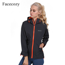 Facecozy Women Autumn Thin Hiking Camping Jackets Breathable Waterproof Hooded Windbreaker Fishing Trekking Coat Outdoor Jacket(China)