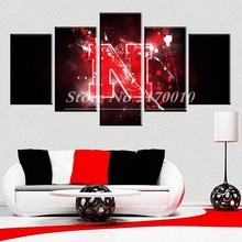 Newly Designed Modern Home Artwork Poster America Picture basketball Canvas Unframed Popular Team 5pieces Painting Bedroom Ball