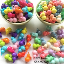 Meideheng spring color lightens cute gourd shaped DIY Necklace Pendant accessories children popular fare well 18*11mm 55pcs/ bag(China)