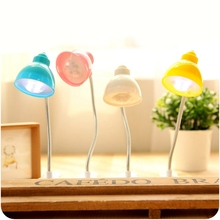 Candy color marca dragon the desk lamp that shield an eye creative home lovely simulation can bend a night light(China)