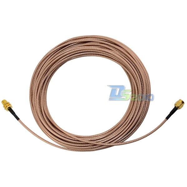 High Quality10m SMA Male plug to Female Nut Bulkhead RF Coax Extension Pigitail Cable RG316 <br><br>Aliexpress