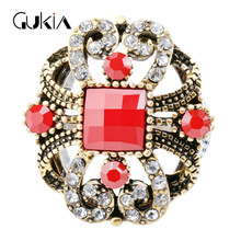 Gukin Wedding Engagement Rings For Women New Fashion Hollow Lace Design Crystal Ring Turkey jewelry Charm Bohemian Ring