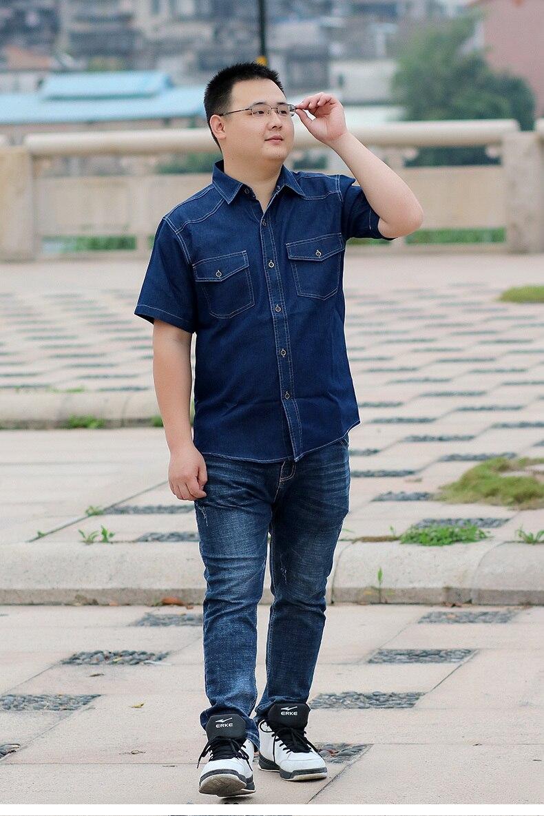 033d204e396 2019 Men Plus Size Short Sleeve Shirts 4XL 6XL 7XL 8XL Shirt Size ...