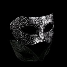 2017  Mens Sliver Masquerade Masks Face Venetian Masks for Fancy Dress Ball Roman Swirl Mask