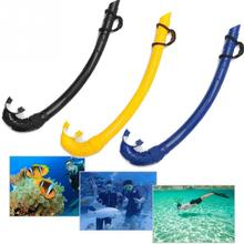 Professional Swimming Snorkel With Silicone Mouthpiece Easy Breath Scuba Diving Tube Dry Snorkeling underwater pipe Set(China)