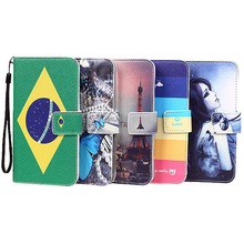High Quality Fashion PU Stand Wallet Flip Leather Cover Cases For Micromax Canvas Spark 3 Q385 Mobile Phone Case + Lanyard gift