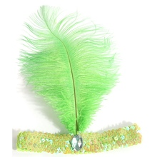 Feather Chic Hairband Flapper Sequin Headband Party(China)